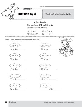 Division Strategies, Grades 4-6+: Division by 4