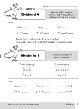 Division Strategies, Grades 4-6+: Division of 0 & Division by 1