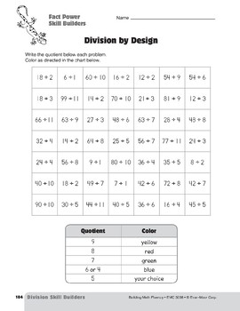 Division Strategies, Grades 4-6+: Fact Power Skill Builders