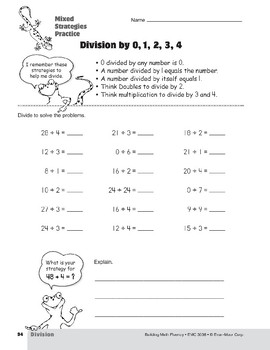 Division Strategies, Grades 4-6+: Mixed Strategies Practice