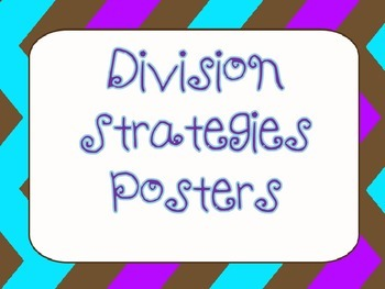 Division Strategies Posters