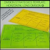 Division Strategies Template: Horizontal Long Divison