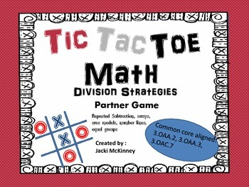 Division Strategies Tic Tac Toe Partner Game
