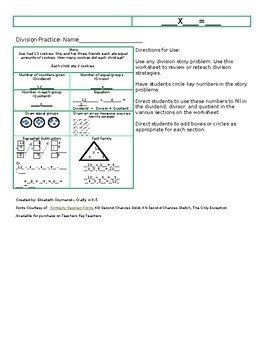 Division Strategies Work Sheet