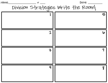 Division Strategies Write the Room!