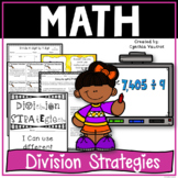 Division Strategies in 4th Grade Common Core without the standard algorithm