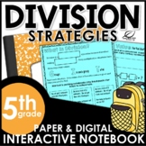 Division Strategies Interactive Math Notebook Set | Distan