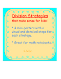 Conceptual Division Strategies Charts with Visual Models a