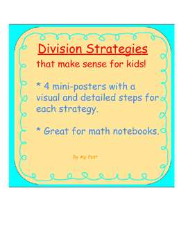 Conceptual Division Strategies Charts with Visual Models a