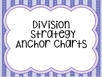 Division Strategy Anchor Charts