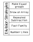 Division Strategy Notes and Practice Sheet BUNDLE