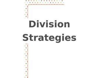 Division Strategy Posters