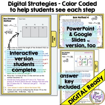 Division Strategies Posters, Slideshow & Division Strategy Helper Booklet