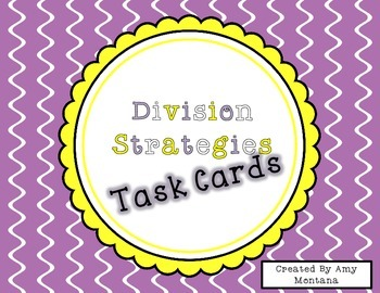 Division Strategy Task Cards
