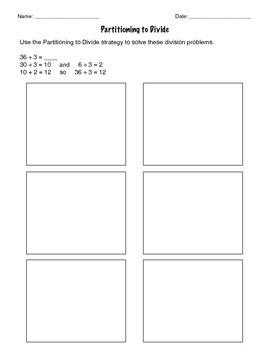 Division Strategy Worksheets
