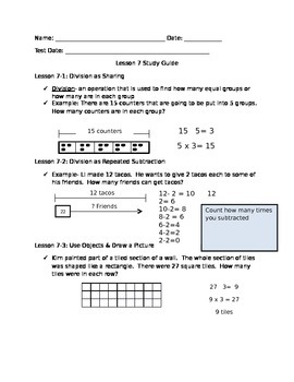 Division Study Guide