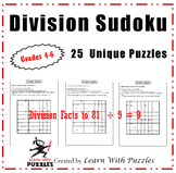 Division Sudoku Puzzles - 25 Unique Division Sudoku Puzzle