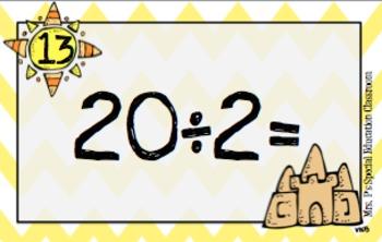 *Division* Sweet Summertime Basic Math Fact Math Scoot