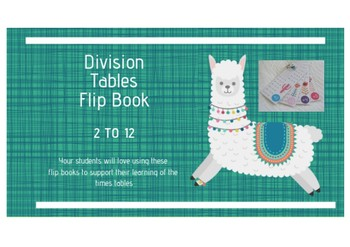 Division Tables Flip Book