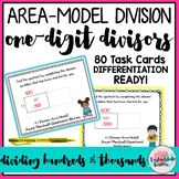 Area Model Division with 1 Digit Divisors Task Cards