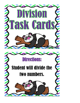 Division - Task Cards