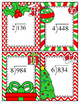 Division Task Cards, 3 digit by 1, No Remainders (Christmas)