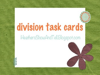 Division Task Cards 3 digit by 1 digit