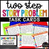 Two Step Word Problems - addition and subtraction- Distanc