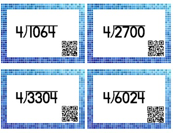 TEKS 4.4F - Division Task Cards with QR Codes
