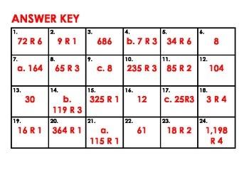 Division Task Cards 4.NBT.4