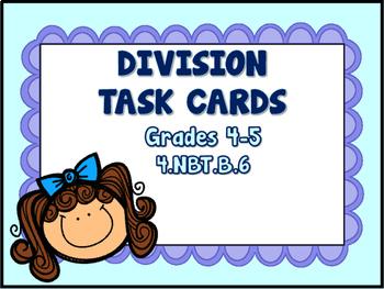 Division - 1-Digit Divisors Task Cards