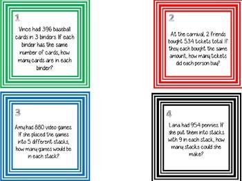 Division Task Cards  5.NBT.6
