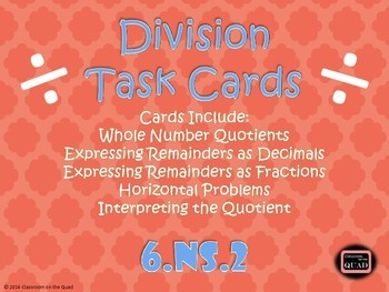 Division Task Cards {6.NS.2}