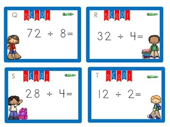 Division Task Cards--Back to School (or ANY time!)