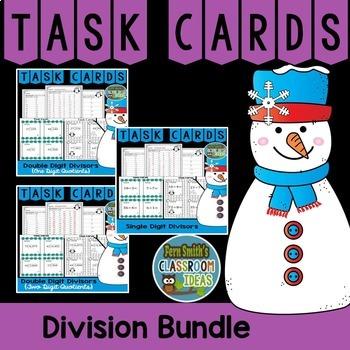 Winter Division Task Cards Bundle