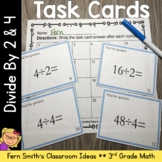 Division Task Cards - Divide By 2 and 4