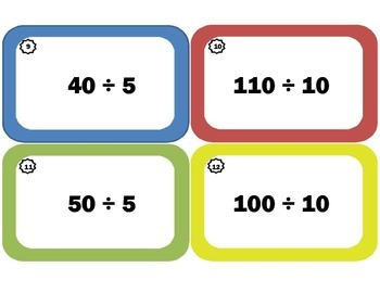Division Task Cards / Division Flash Cards