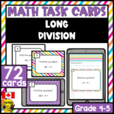 Division Task Cards Grades 4-5