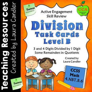 Division Task Cards (with QR codes) Level B