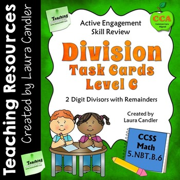 Division Task Cards (with QR Codes) Level C