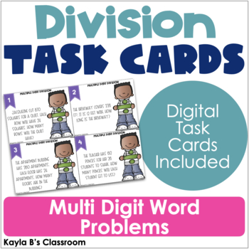 Division Task Cards: Multi-Digit Word Problems