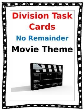Division Task Cards - No Remainder