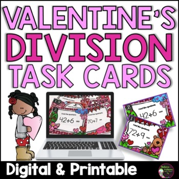 Division Task Cards (Valentine's theme)- FREE!