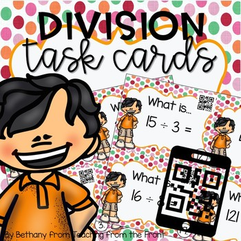 Division Task Cards | With QR Codes