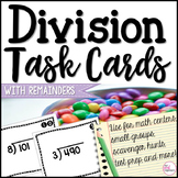 Division Task Cards - With Remainders! CCSS 4.NBT.B.6