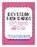 Division Task Cards With and Without Pictures