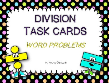Division Task Cards -- Word Problems