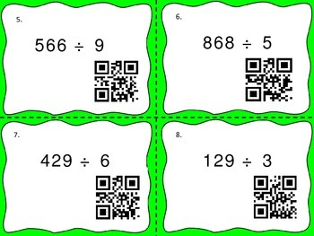 Division Task Cards with QR Codes