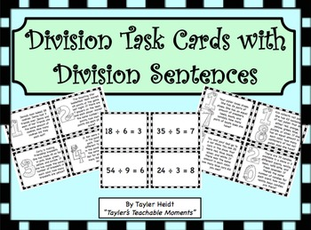 Division Task Cards with Word Problems