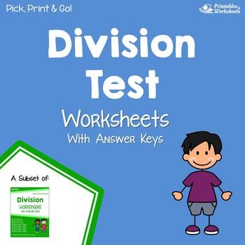 Division Test Worksheets